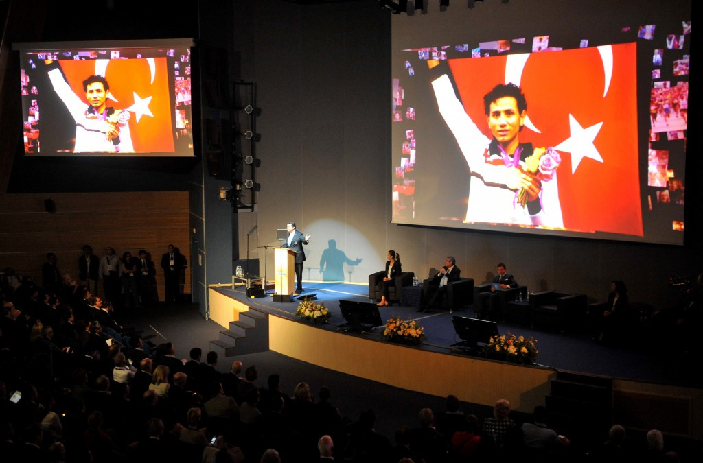 Istanbul also presented in Saint Petersburg during the 2013 SportAccord Convention ©Getty Images