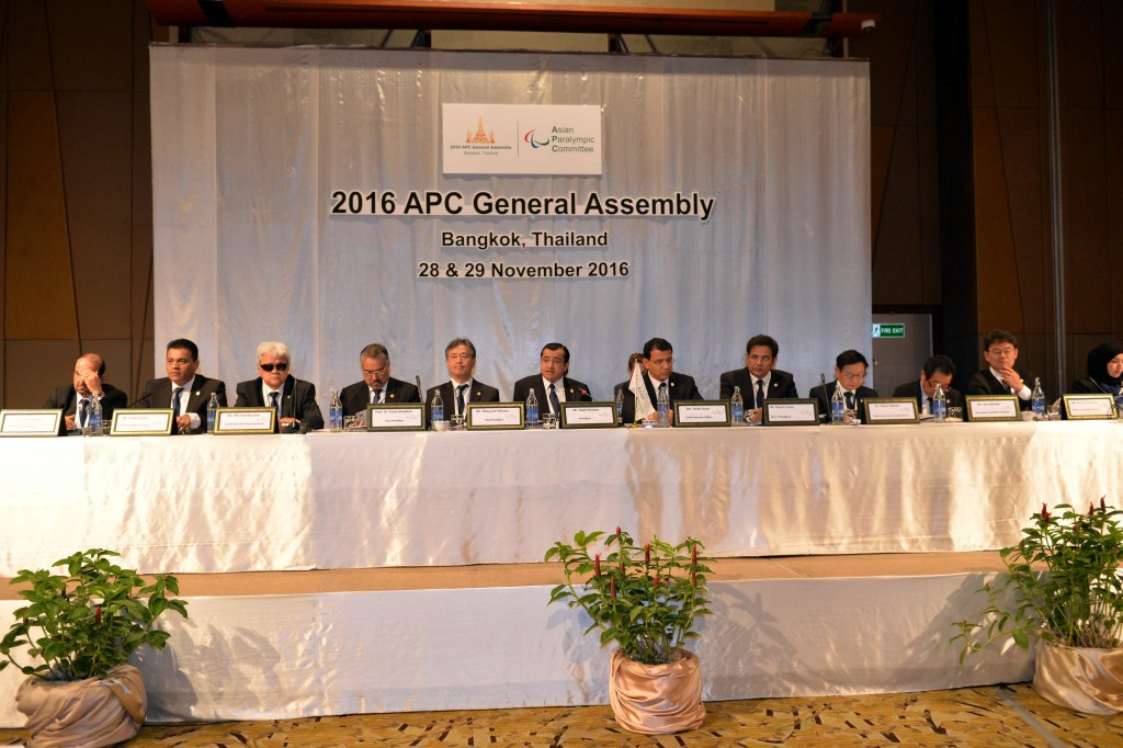 Asian Paralympic Committee votes in favour of constitutional changes at General Assembly in Bangkok