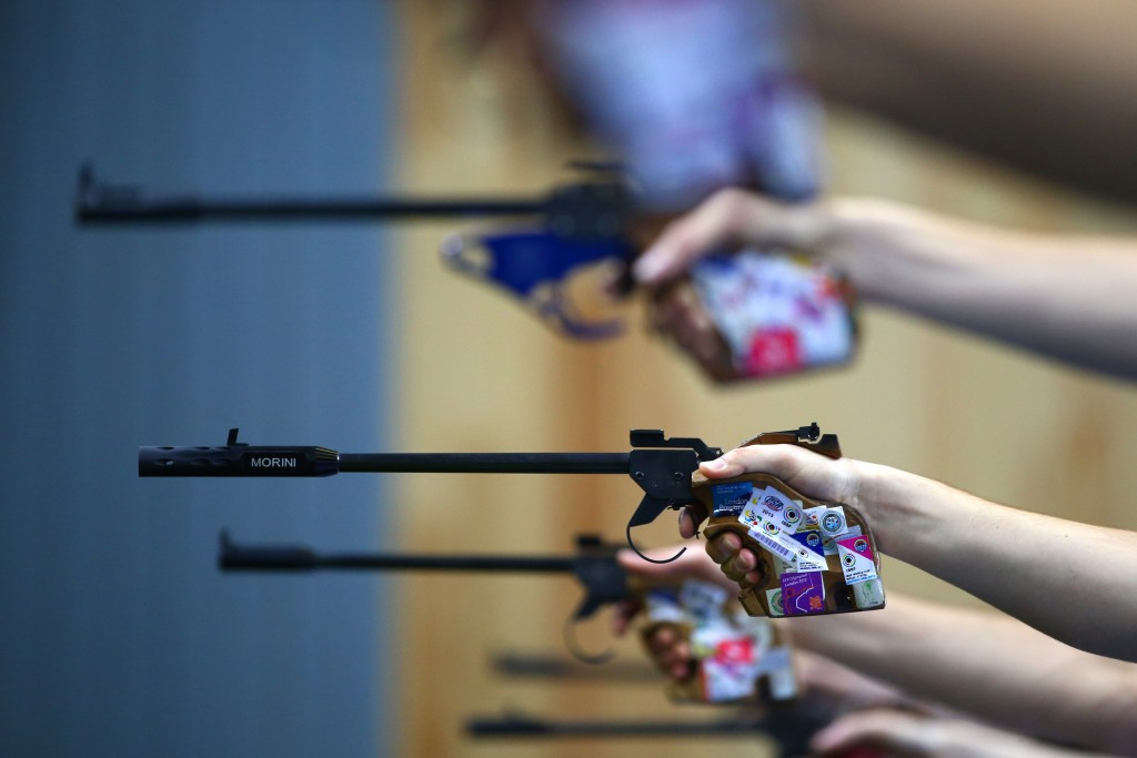 The 50 metre pistol is one of three mixed gender team events proposed for the 2020 Olympic programme ©Getty Images