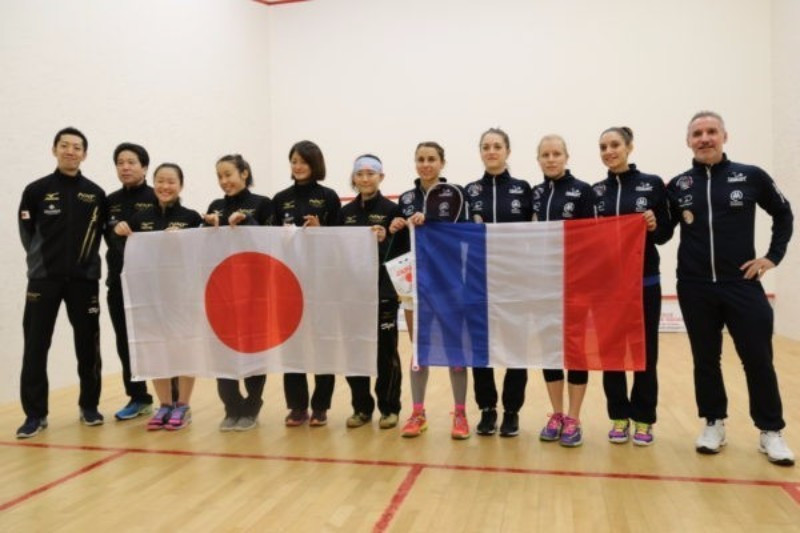 Hosts France continued their good form with victory over Japan ©World Squash