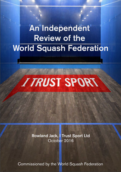 "An independent review commissioned by the World Squash Federation has concluded it was ""generally agreed"" that joining the Olympic programme should remain a priority ©WSF"