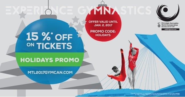 Tickets for 2017 Artistic Gymnastics World Championships go on sale