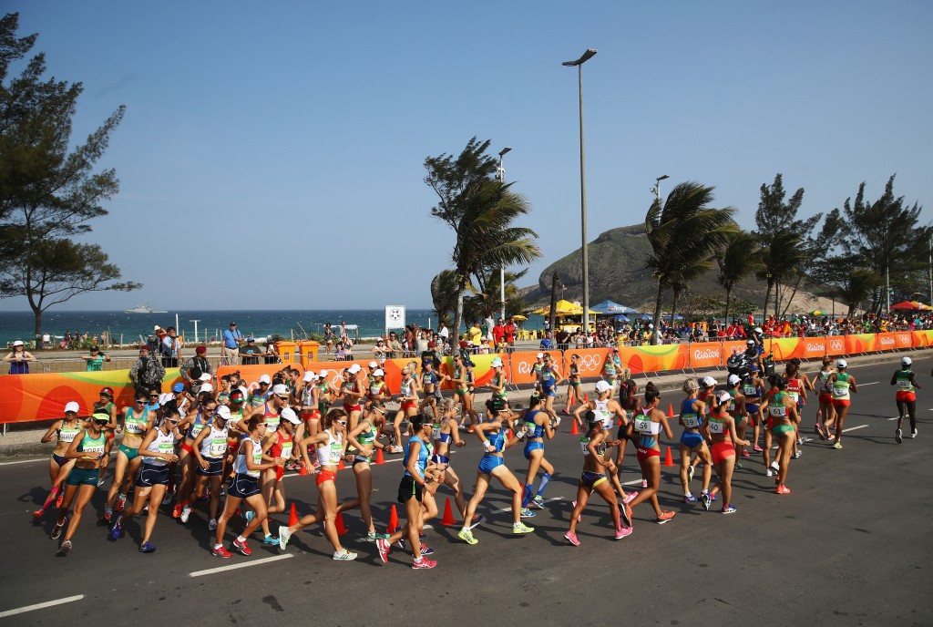 The women's 20km race walk at the Rio Olympics - electronic systems are on the way ©Getty Images