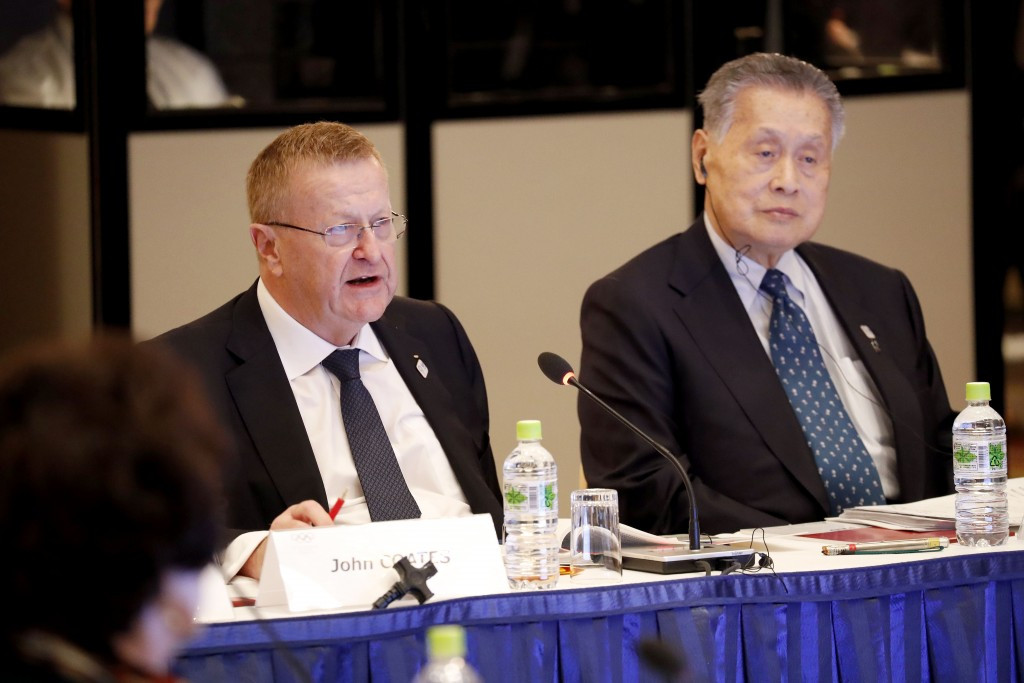 John Coates (left) warned Tokyo 2020 to reduce the budget lower than the current maximum cap ©Tokyo 2020/Shugo Takemi