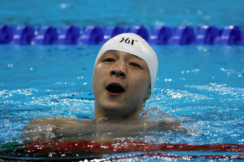 Chinese swimmer Xu Qing, who won three gold medals at the Rio 2016 Paralympic Games, claimed the best male athlete prize ©Getty Images