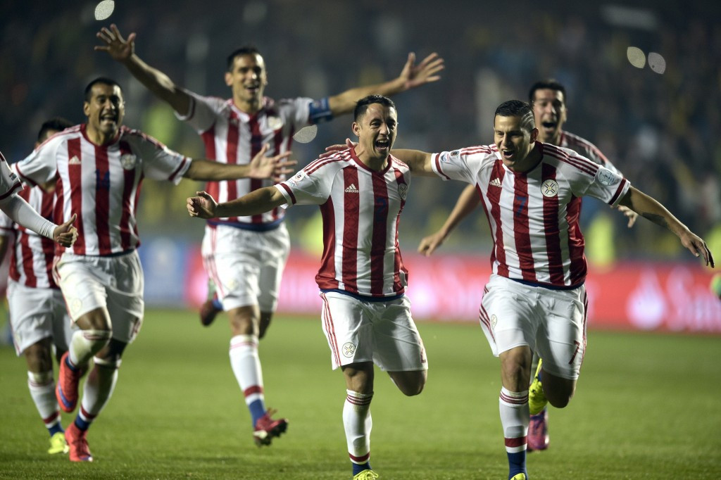 Paraguay knocked Brazil out on penalties for the second successive Copa America ©AFP/Getty Images