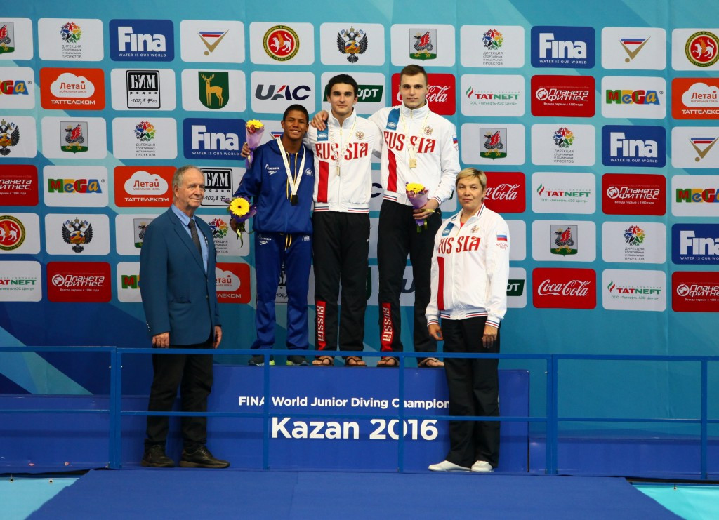 Home favourite triumphs to delight of Russian crowd at 2016 FINA World Junior Diving Championships