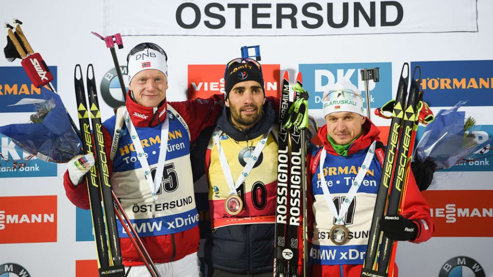Defending IBU World Cup champion Fourcade wins first men's individual event of new season