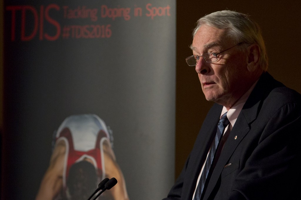 Former WADA chairman Richard Pound remains as a critical voice of Russia ©Getty Images
