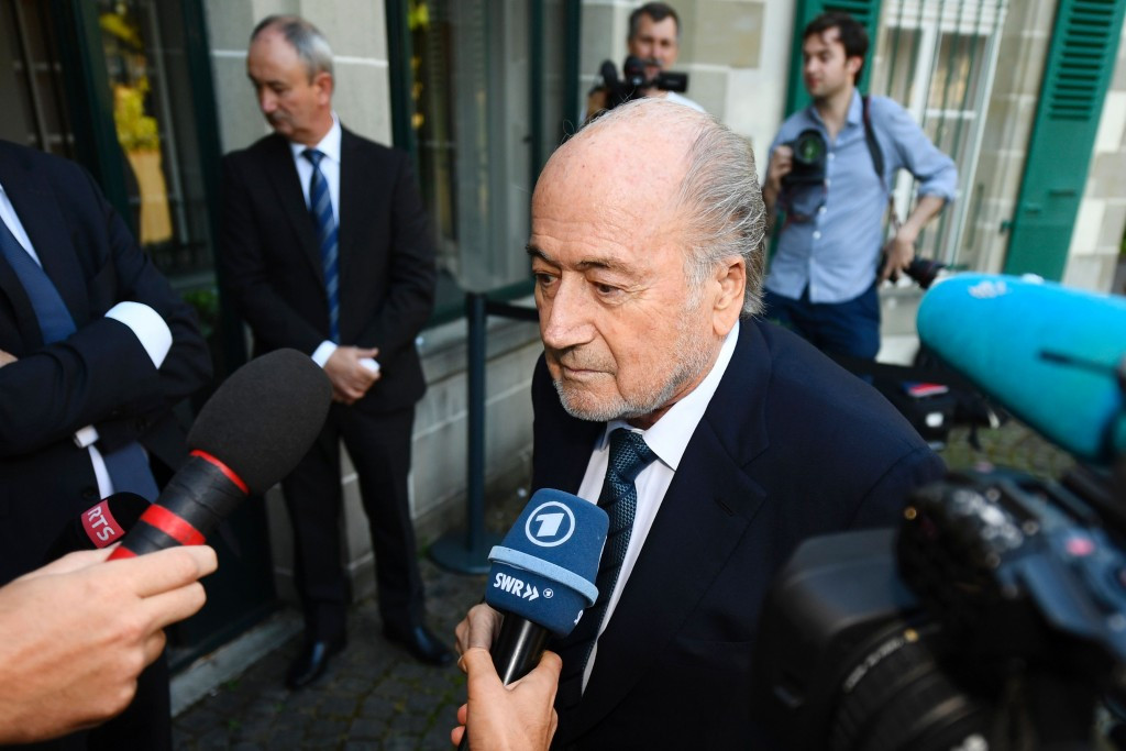 The Court of Arbitration for Sport will announce its decision on Sepp Blatter's appeal against his six-year ban from all footballing activity on Monday ©Getty Images
