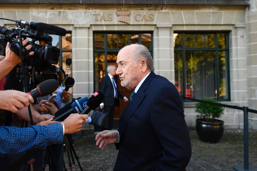 The banned former FIFA President said at his hearing in August that he would accept the CAS decision ©Getty Images