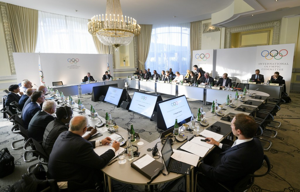 Members take their seat for the opening of an Olympic Summit on reforming the anti-doping system on October 8, 2016 in Lausanne. ©Getty Images