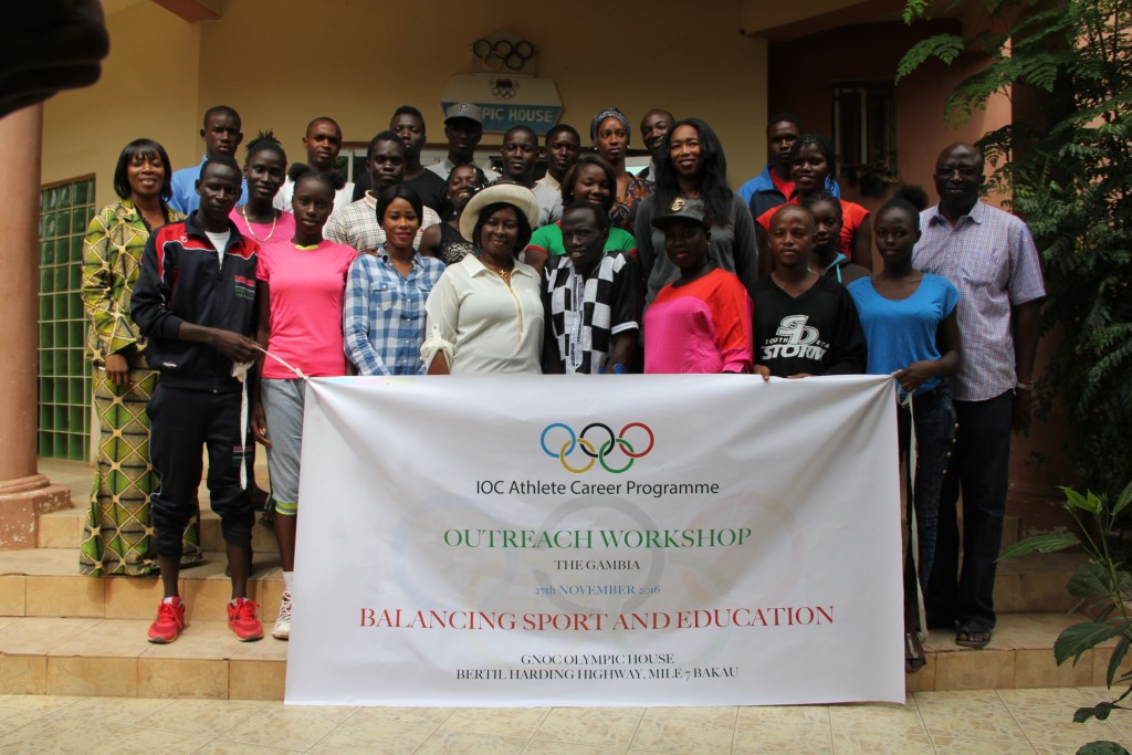 The Gambia National Olympic Committee has hosted a session of Athlete Career Outreach Programme in Bakau ©GNOC