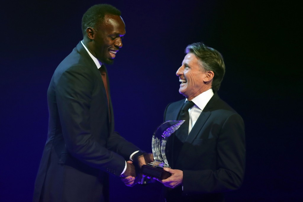 Bolt salutes Coe's IAAF reform efforts as he takes record sixth Athlete of the Year award