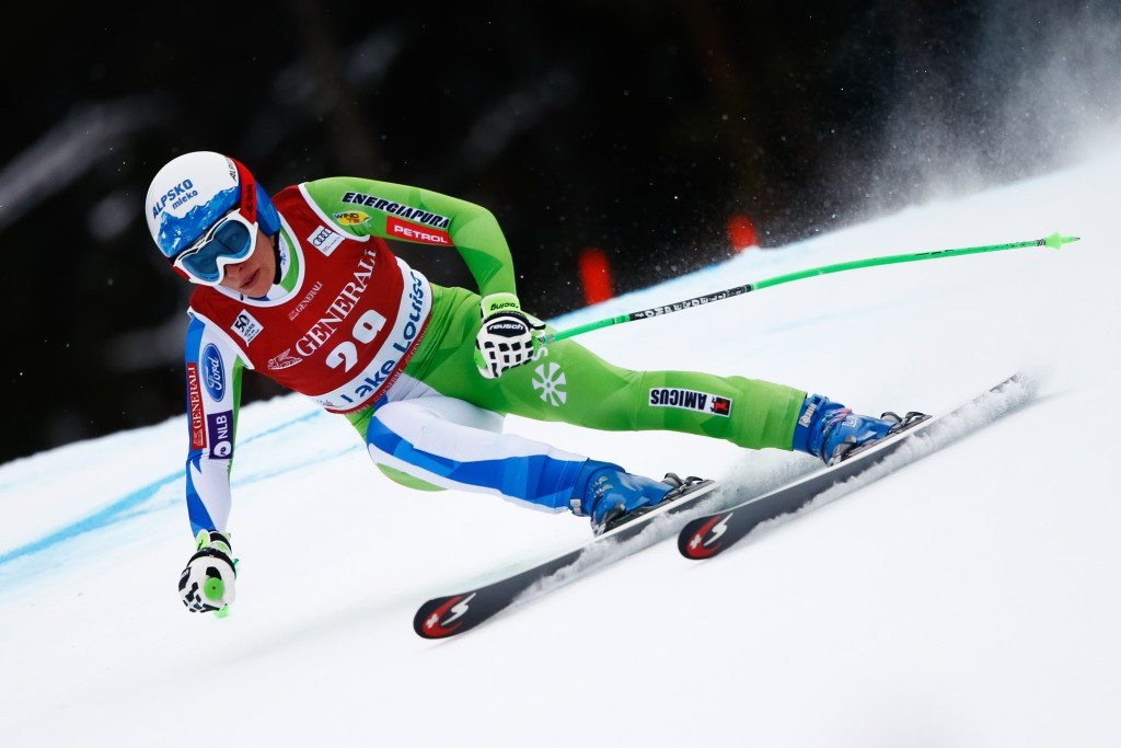 Slovenia's Ilka Stuhec took top honours in the women's downhill event in Lake Louise ©Getty Images