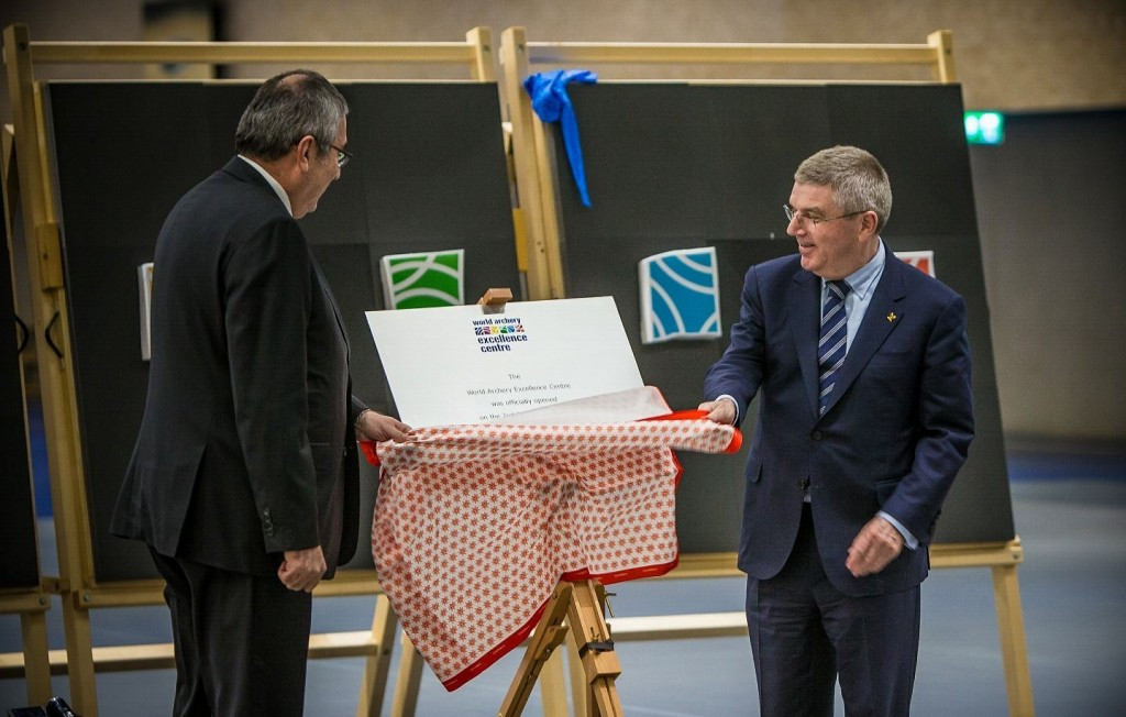 World Archery Excellence Centre opened by IOC President Bach