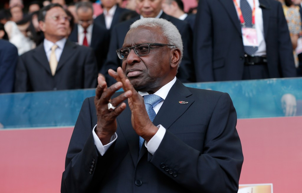 Former IAAF Lamine Diack is now accused of wrongdoing in the 2016, 2018 and 2020 Olympic bidding processes ©Getty Images