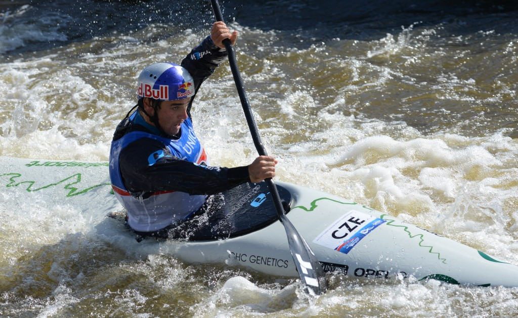 Czech Republic's Vavrinec Hradilek won his first K1M gold medal since triumphing at the 2013 ICF World Championships in Prague ©Getty Images