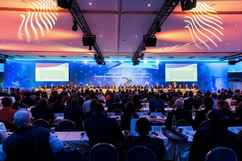 The decision to pass the IAAF reforms at a Special Congress was voted through 182-10 but there were several countries who abstained, mostly notably Jamaica and Ukraine ©IAAF