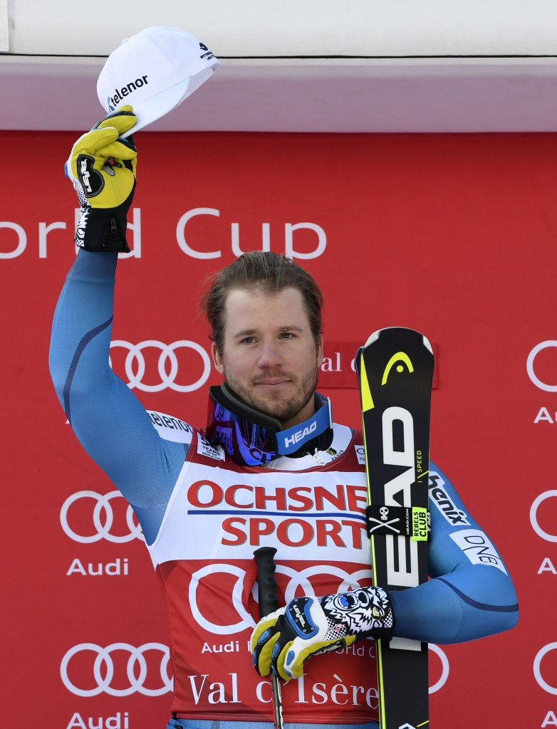 Jansrud claims second title in two days after downhill success at FIS Alpine Skiing World Cup in Val d'Isère
