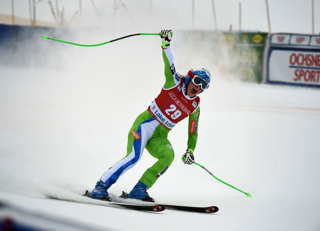 Slovenia's Ilka Stuhec claimed her second downhill victory in as many days at Lake Louise ©Getty Images