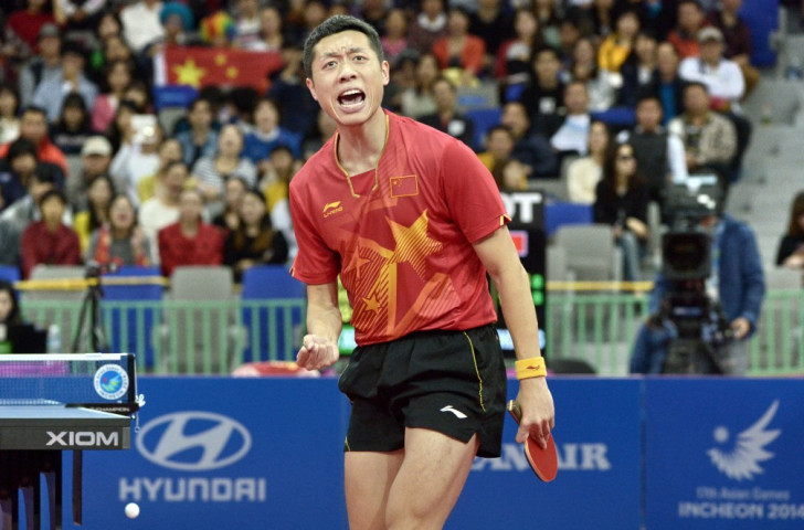 Xu Xin claimed his 11th ITTF World Tour title with victory over home favourite Maharu Yoshimura at the Japan Open ©Getty Images