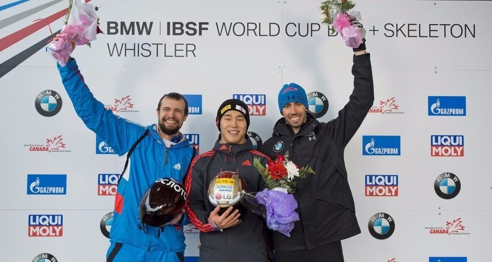 South Korea star claims opening men's skeleton World Cup win in Whistler
