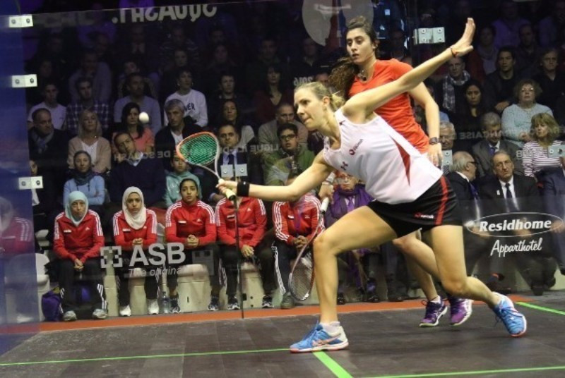 England's Laura Massaro gained a superb victory over Egypt's world number one Nour El Sherbini in the opening rubber of the Women's World Team Squash Championship in Paris ©World Squash