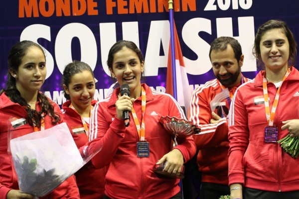 Egyptian favourites fightback to claim third WSF Women's World Team Squash Championship title