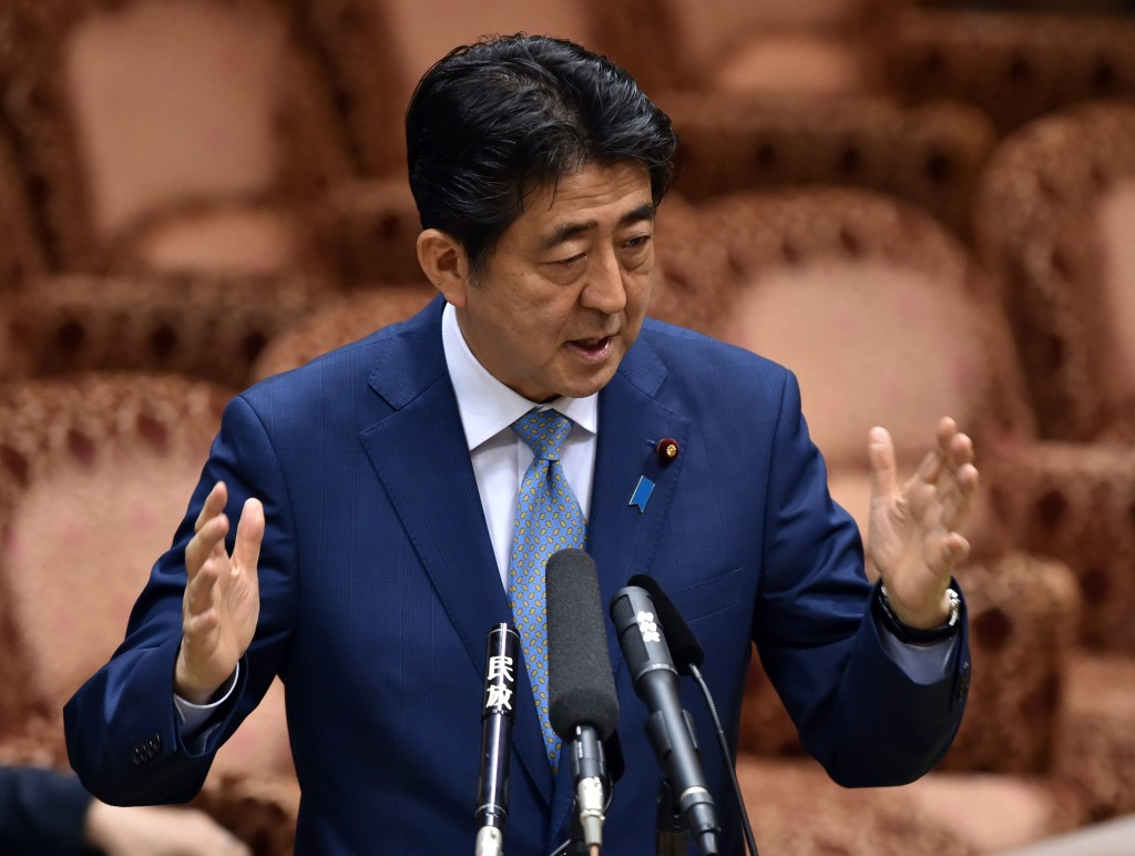 Japanese Prime Minister Shinzō Abe announced the scrapping of the initial stadium plan in 2015 ©Getty Images