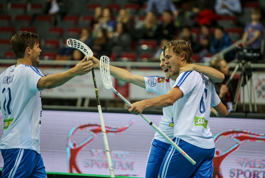 Finland battle to hard fought victory over Swiss at World Floorball Championships