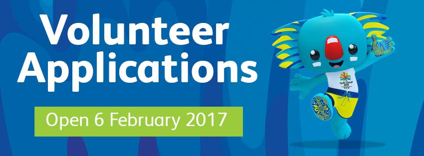 Applications for Gold Coast 2018 volunteering positions to be opened on February 6