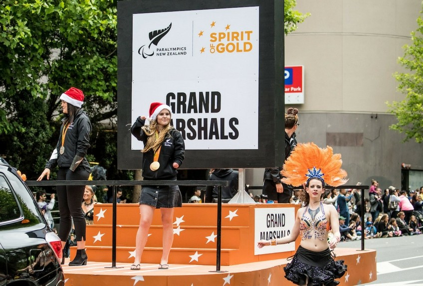 New Zealand Paralympians lead annual festive parade in Auckland