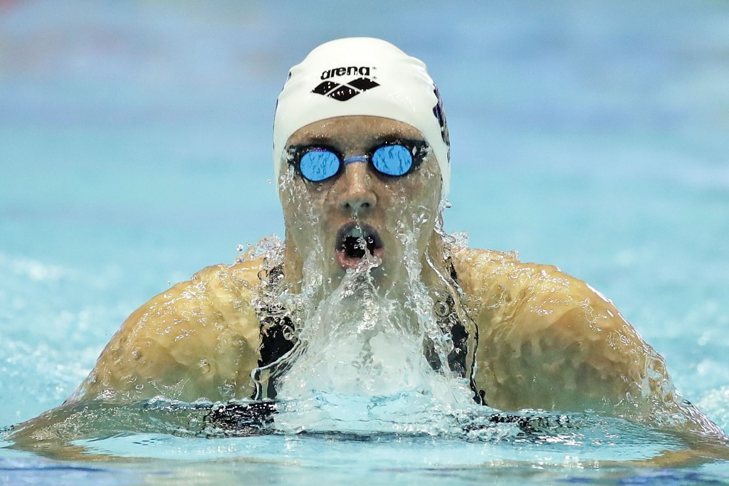 Katinka Hosszu won the women's award following her memorable year in the pool ©Getty Images