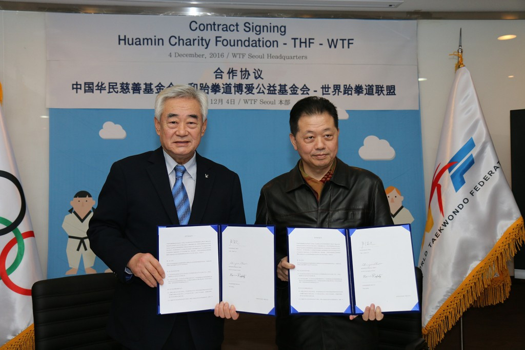 Huamin Charity Foundation makes donation to THF in bid to create academies for child refugees