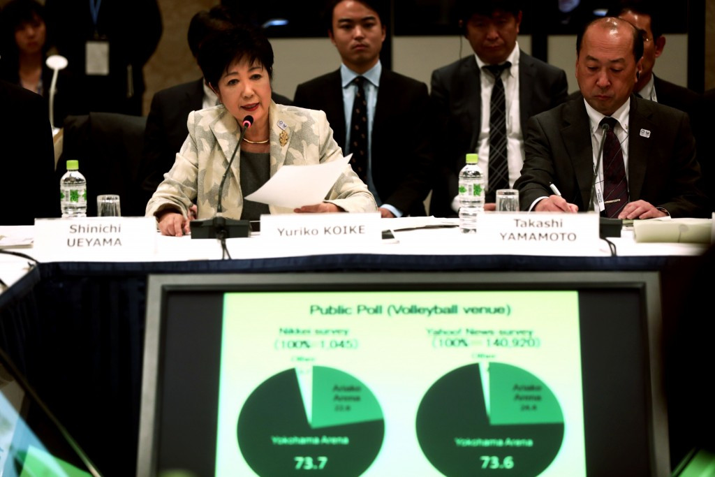 Tokyo Governor Yuriko Koike is a key figure during preparations for Tokyo 2020 ©Getty Images