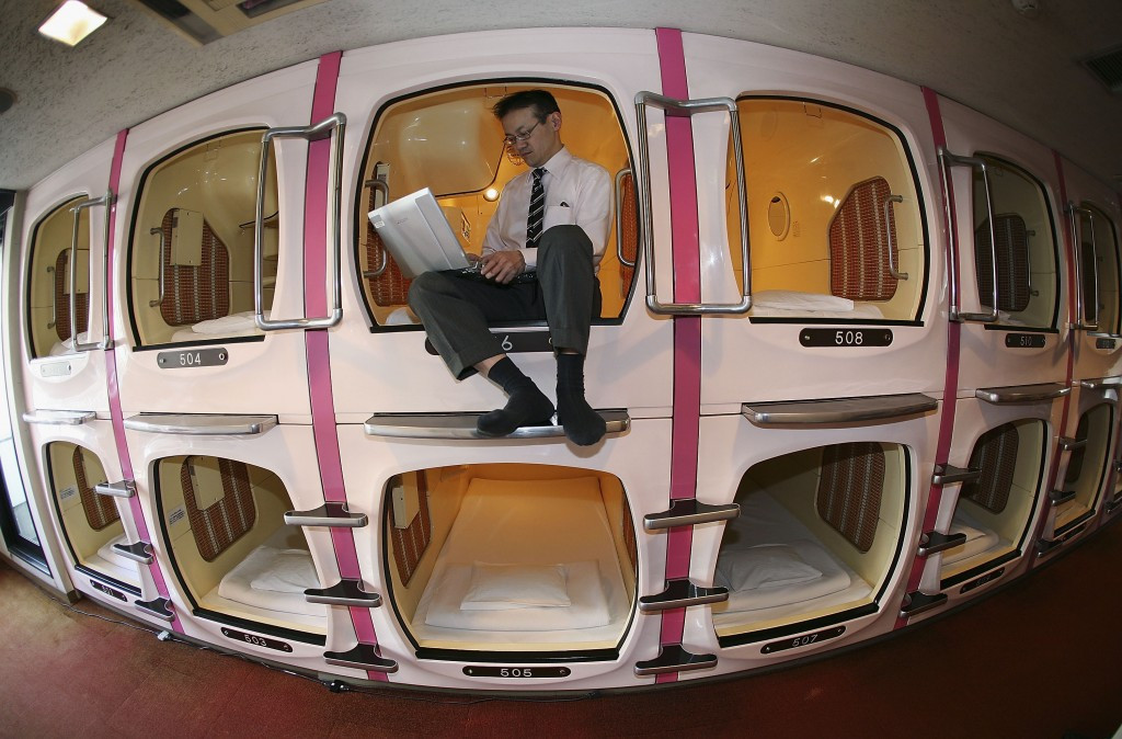 A capsule hotel would make a very different home for the IOC membership at Tokyo 2020 ©Getty Images