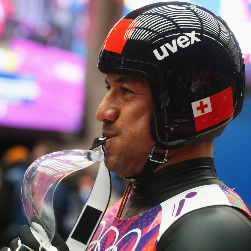 Luger Bruno Banani is Tonga's only Winter Olympian ©Getty Images