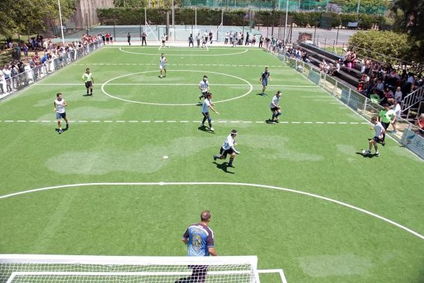 First purpose built blind football pitch in Argentina plays host to debut match