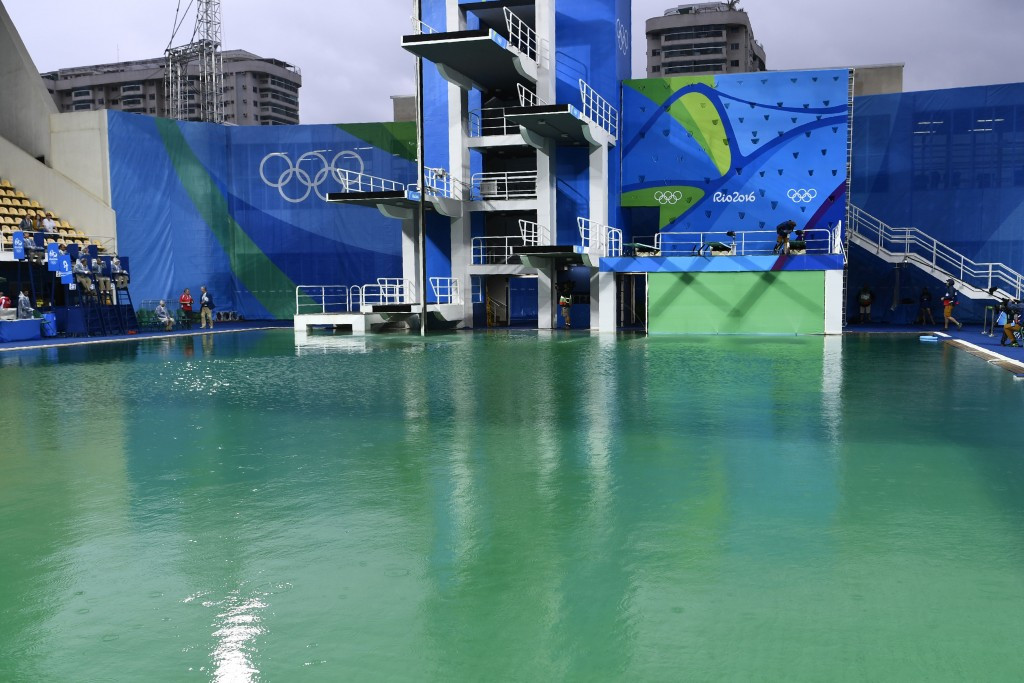 Problems experienced during the Games such as the green diving pool were not mentioned today ©Getty Images