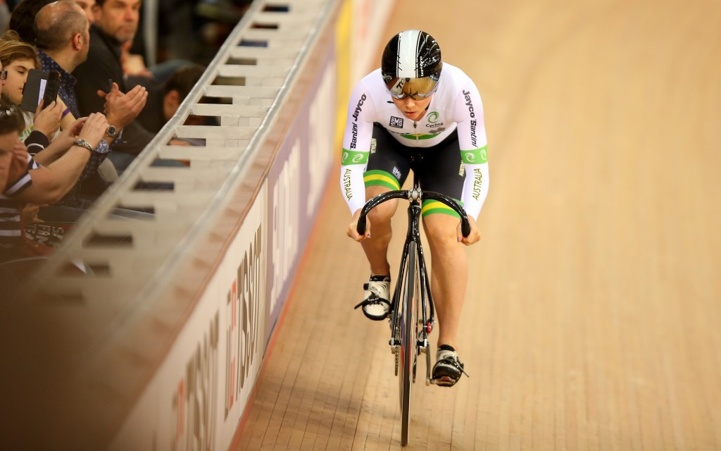 London 2012 Olympic bronze medallist in the women's team sprint Kaarle McCulloch is one of many Australian stars in action this week ©Getty Images