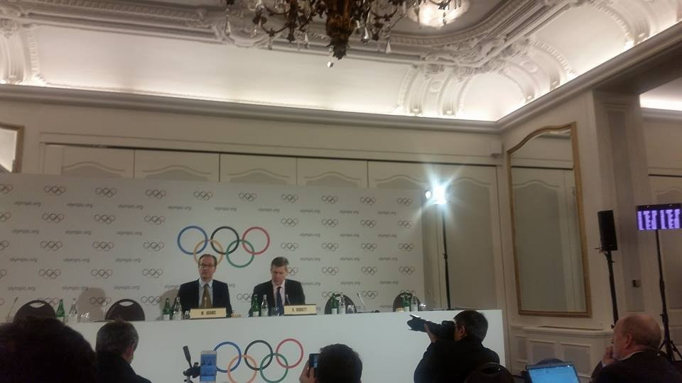 Richard Budgett (right) has explained more details of the IOC retesting process today ©ITG