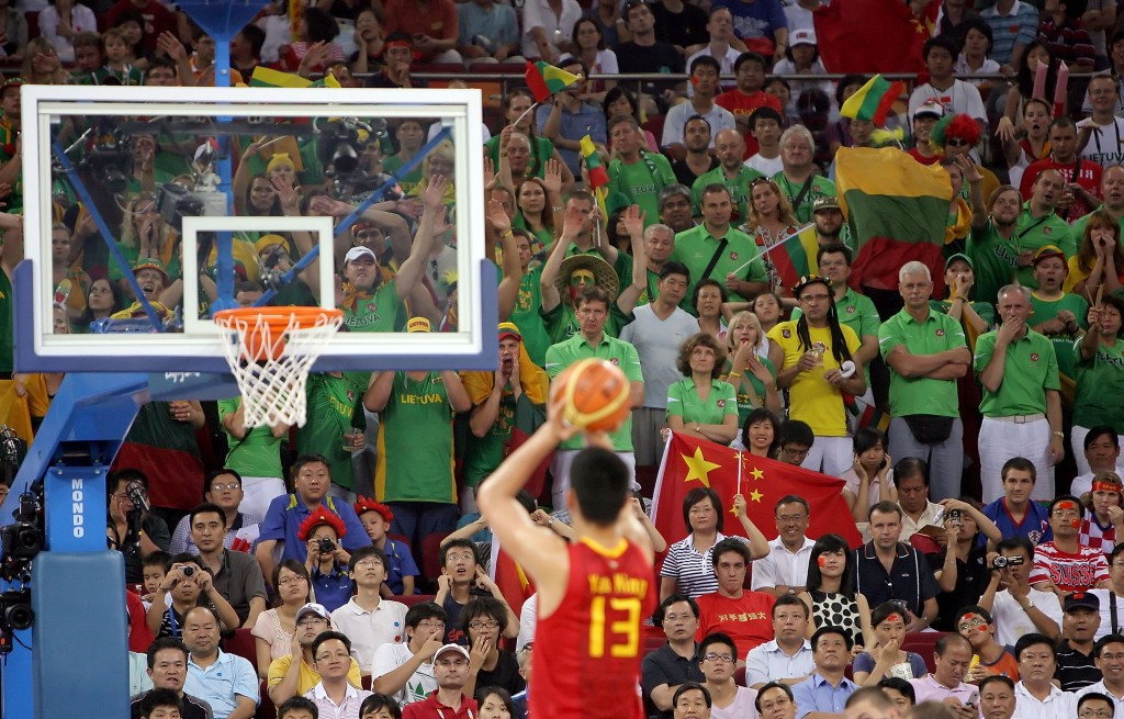 Yao Ming represented China in two World Cups and three Olympic Games during his career ©Getty Images