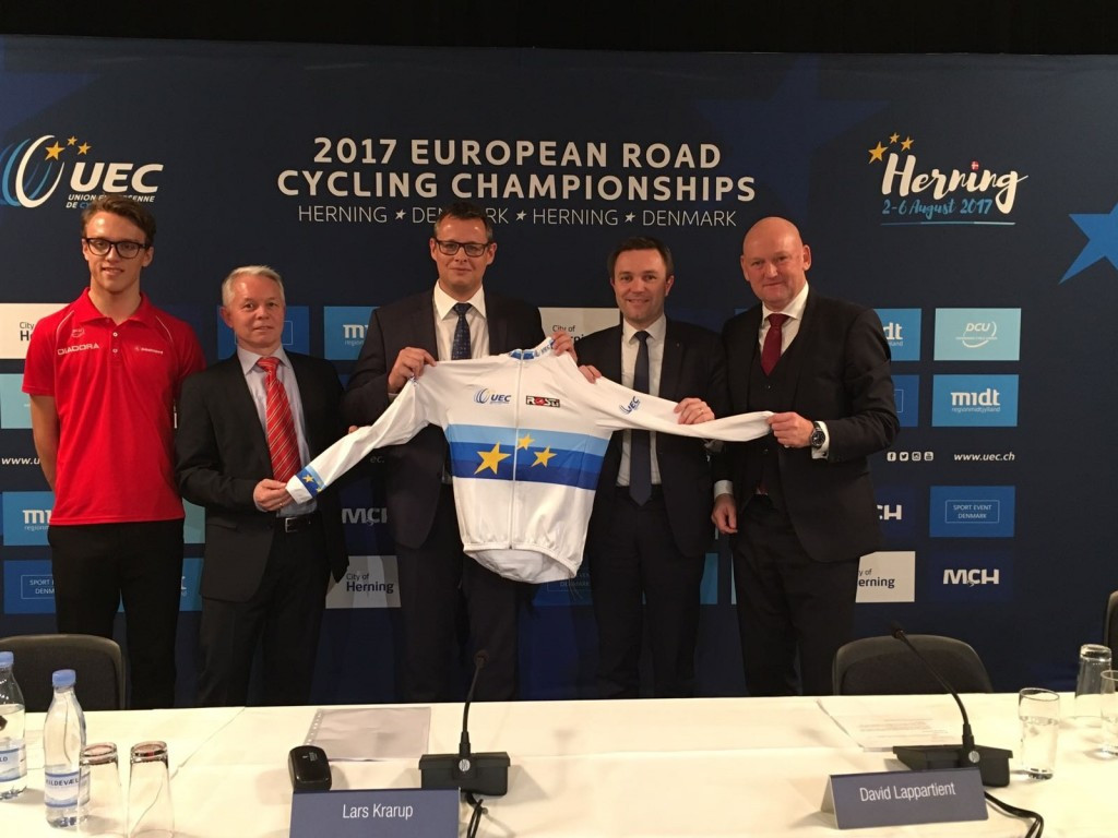 Herning has been confirmed as the host of the 2017 European Road Cycling Championships ©UEC