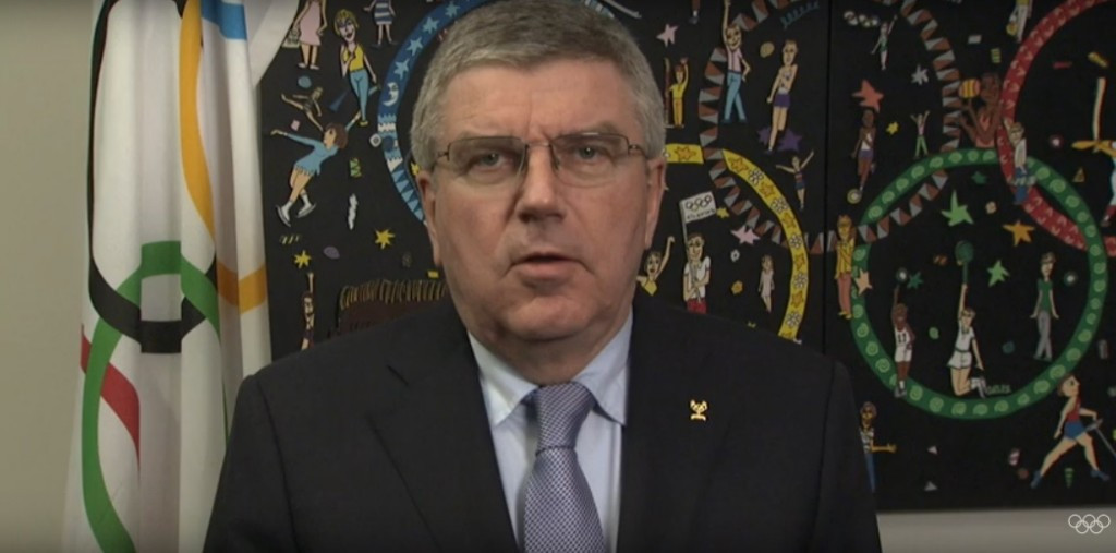 IOC President Thomas Bach reiterated his call for any athlete or official involved in the Russian programme to be banned from the Olympics for life ©IOC/YouTube