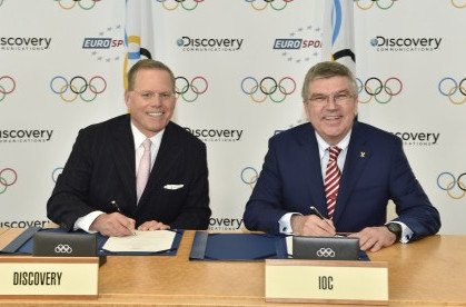 The landmark deal has been signed between Discovery and International Olympic Committee ©Discovery