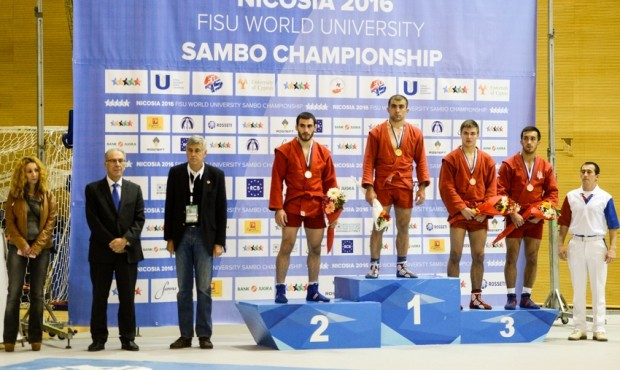 Russia dominate opening day of World University Sambo Championships