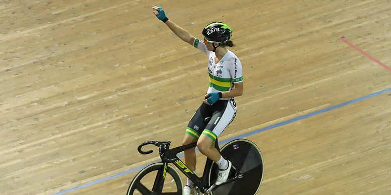 Amy Cure triumphed in the women's omnium in Melbourne ©Cycling Australia