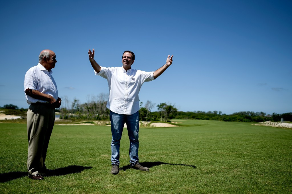 Rio Mayor Eduardo Paes has had his assets frozen as a probe continues over the Rio 2016 golf course ©Getty Images