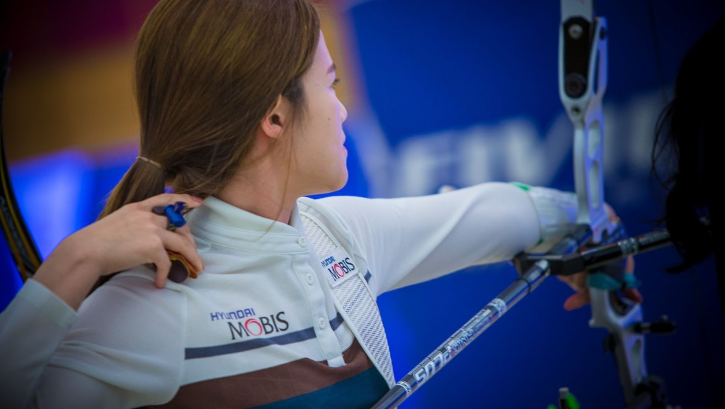 South Korea's Sim equals women's recurve world record on opening day of Indoor Archery World Cup in Bangkok